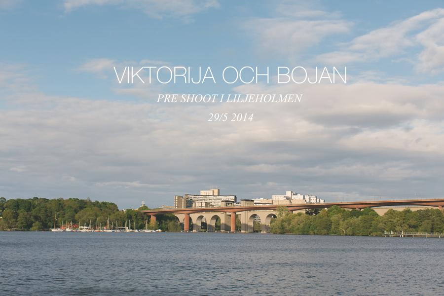 Viktorija och Bojan pre shoot