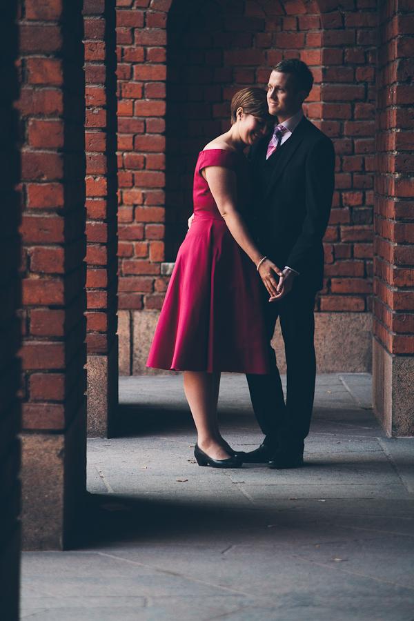 Johanna och Christoffer på Stadshuset