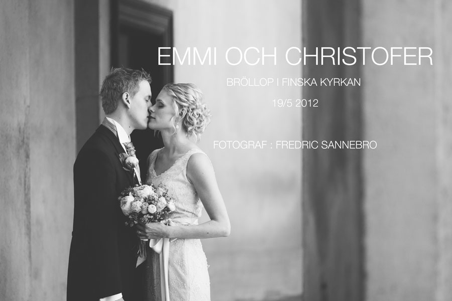 Emmi och Christofers brllopsbilder