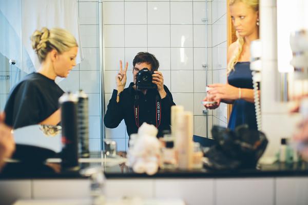 Bröllopsfotograf - behind the scenes