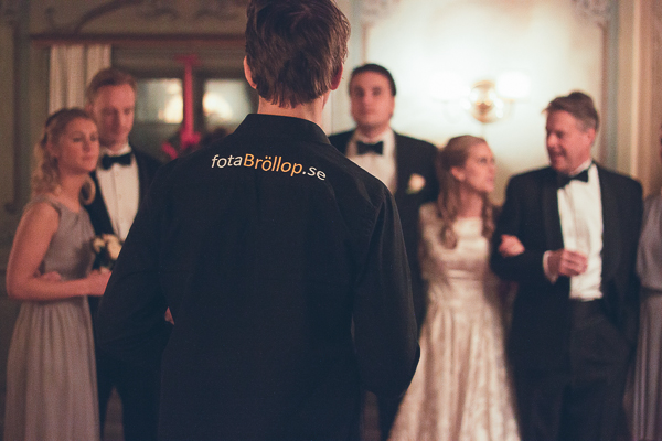 Bröllopsfotograf Fredric Sannebro in action!  :-)