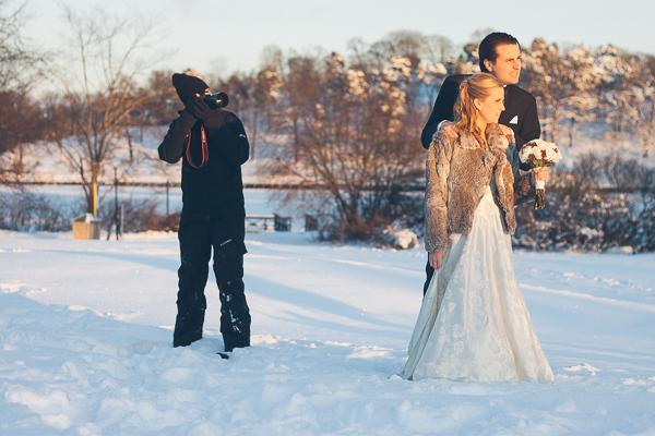 Bröllopsfotograf med rätt klädsel
