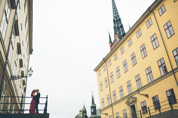 Pre shoot på Riddarholmen i Stockholm - Bröllopsfotograf