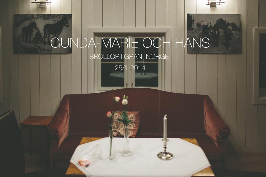 Gunda-Marie och Hans bröllop i Gran, Norge