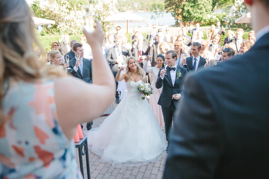 Desiree och Joakims bröllop på Villa Pauli