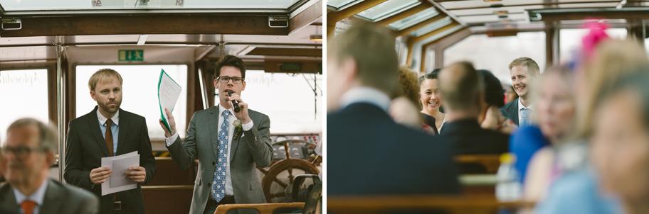 åka båt bröllop